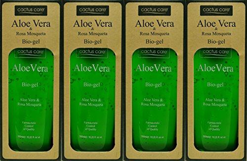 Aloe Vera y Rosa Mosqueta Bio-Gel 300ml x 4