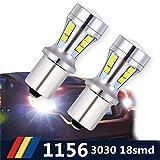 Suparee LED bianco 1156 BA15S 1141 7506, lampadina di ricambio LED 18pcs 3030 Chipset LED per camper, SUV, monovolume, auto, fanali per indicatori di direzione, luci posteriori e di stop, luci di ricambio (confezione da 2)