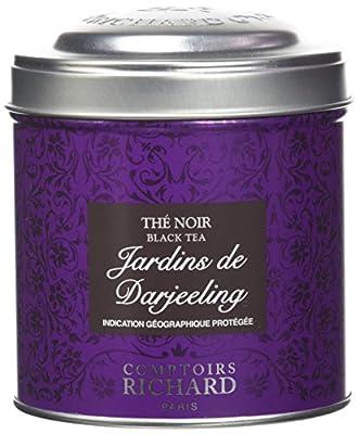 Comptoirs Richard Thé Noir Jardins de Darjeeling Boîte Métal Vrac 100 g
