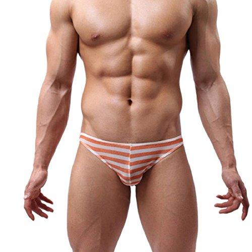 Tongshi Hombres transparente respirable ultrafino grande Ropa interior Ropa interior atractiva (B,