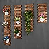 Im Freien Kraut Blumen Pflanze steht Massivholz Auf der Wand Blumenregale Europäischer Stil Balkon Wohnzimmer Wandbehang Pflanze Regale hängende Wand Blumentopf Rack (Nicht 4 Stück, nur 1 Stück) Im Freien Kraut Blumen Pflanze steht ( größe : 30*90cm )