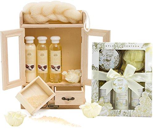 BRUBAKER Cosmetics Bade- und Pflegeset Sheabutter & Vanilla Rose Minze 15-teilig