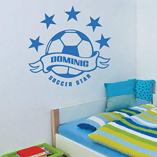 wandaufkleber 3d Wandtattoo Kinderzimmer Football Sticker Name Soccer Decal Kids Room Posters Car Parede Decor Mural Football Sticker for nursery kids room
