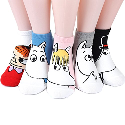 Moomin Women\'s Socks 5 pairs Made in Korea - Stand out