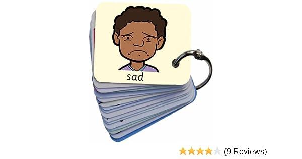 Autism SEN Feelings /& Emotions Leroy Picture Exchange Communication Keyring