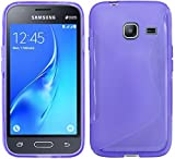 cofi1453 S-Line TPU SchutzHülle für Samsung Galaxy J1 Mini 2016 (J105H) Silikon Hülle Etui Case Cover Silikontasche Silikonschale in Violett @ Energmix