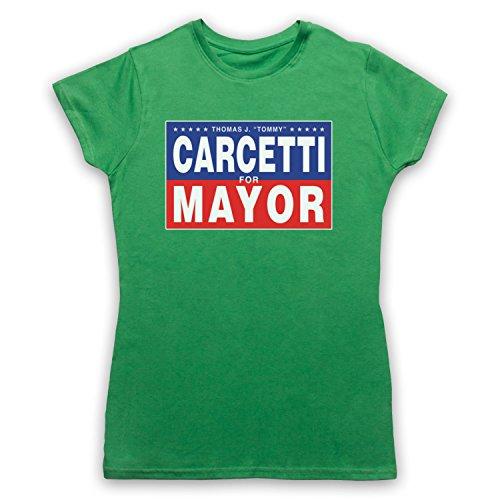 Inspiriert durch The Wire Carcetti For Mayor Inoffiziell Damen T-Shirt Grun