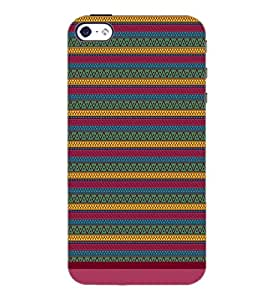 PrintDhaba Tribal Pattern D-1672 Back Case Cover for APPLE IPHONE 4S (Multi-Coloured)