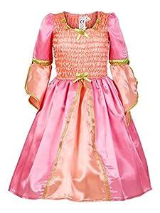 Rose & Romeo - 10076 - Disfraces para Niños - Lilou - Vestido - Salmón/Rosa
