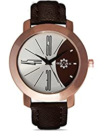 GEARZ Men's Watch With Classic Copper Finishing Case & Pearl Silver & Brown Dial- For Men,#trendy Watches, #watch...