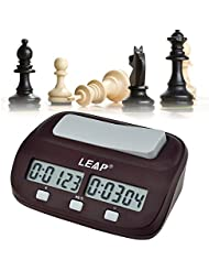 Ckeyin ® Mini compatto da viaggio digitale multifunzione display Chess Clock Count Up Down Timer Concorso Gioco Clock Pro