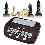 Ckeyin  Mini compatto da viaggio digitale multifunzione display Chess Clock Count Up Down Timer Concorso Gioco Clock Pro
