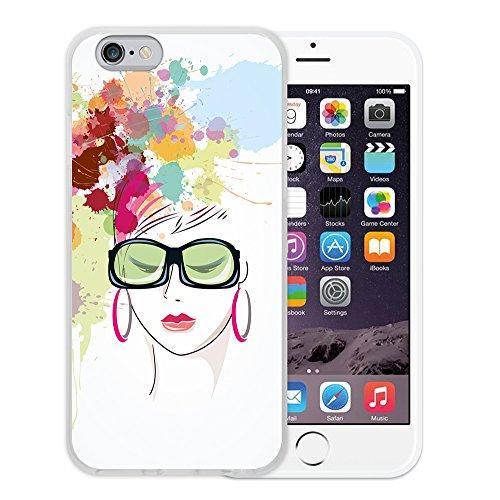 WoowCase Hülle Case für { iPhone 6 6S } Handy Cover Schutzhülle Gehirn, Musik und Wissenschaft Housse Gel iPhone 6 6S Transparent D0138
