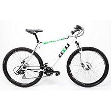 '28pulgadas MTB aluminio bicicleta eléctrica bicicleta Crosser Shimano 21velocidades frenos de disco blanco verde