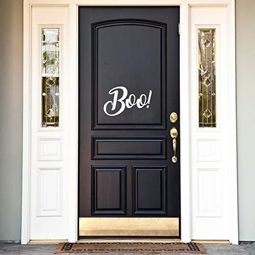 , Motiv: Boo - 29,5 x 48,3 cm - lustiger Pinsel-Schriftzug Halloween-Dekoration - Teenager Erwachsene Innen Außen Wand Fenster Wohnzimmer Büro Decor 11.5