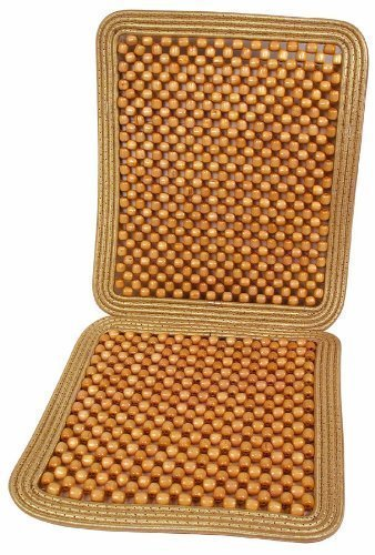 Zone Tech Natural Wooden Beaded Seat Cushion