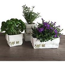 3er Set Blumentöpfe für Kräuter/Blumen - Küche, Balkon, Terrasse oder Garten -
