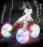 Vivibel 【2020 Neueste】 Ferngesteuertes Auto, 360 ° drehbare Kinder Spielzeugauto Kinderspielzeug für Jungen Mädchen, Dual Modi Drehbarer Stunt Rennwagen LED-Lichter, Spielzeug für Jungen und Mädchen