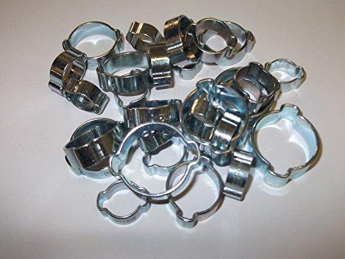 10 x 13mm Mikalor Double Wire Feder Clips Silikon Schlauch Luft Kraftstoff Band Rohrschellen