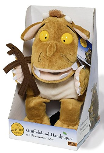 Preisvergleich Produktbild Der Grüffelo – Grüffelokind-Handpuppe mit Stockmann-Figur Plüschtier