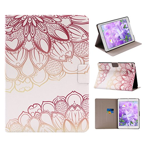 Neu iPad 2017 Folie Case 9.7, Asnlove Premium PU Leder Hülle Ultra Dünn iPad 8 Case Smart Cover mit Auto Sleep / Wake Up Funktion und Standfunktion Magnetschnalle Ledertasche Schutzhülle für Apple Neu iPad / iPad 8 9,7 Zoll Apple Tablet