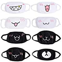 BETOY 8 Pack Anti-dust wind Cotton Mouth Face Masks Mouth Cover for Man and Woman, Cute Bear Anime Fashion Unisex Biker Mask Outdoor Cycling Sport