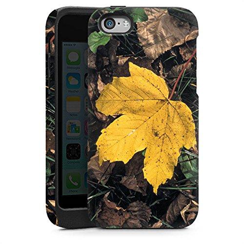 Apple iPhone 5 Housse étui coque protection Feuille d'érable Feuillage Automne Cas Tough brillant