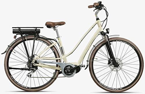 28 Zoll Elektro Damen Fahrrad Montana E-Lunapiena, Farbe:Creme, Rahmengröße:48cm -