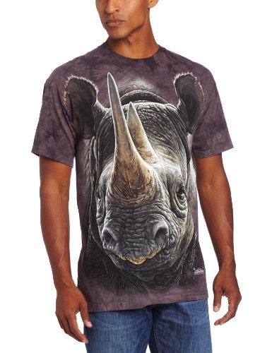Erwachsen Black Rhino Tier T Shirt, Grau, L ()