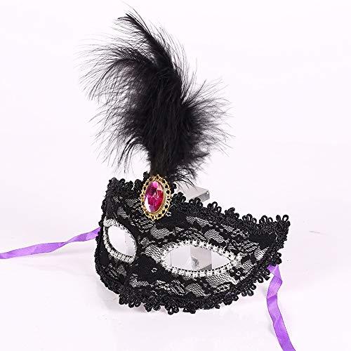 Clluzu Kostüm Masken Weihnachten Halloween Maske Maskerade Geburtstagsfeier Feder Zebra 7,02 * 8,58 Zoll 5 STÜCKE
