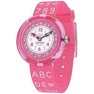 Flik Flak Mädchen Analog Quarz Uhr mit Textil Armband FBNP133