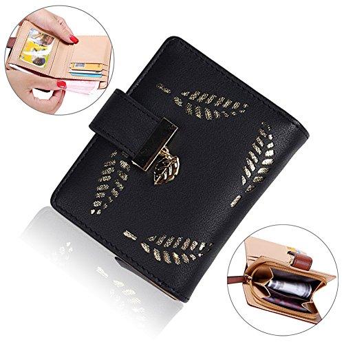 Bonice borsa del portafoglio da donna con la chiusura lampo in pelle PU multifunzione [Grande capacità] Card Slots Case Cover per iPhone 8/8 Plus/iPhone X, iPhone7/7 Plus/6S/6S Plus/6/6 Plus/5/5S/5C/S Mini Wallet - 02
