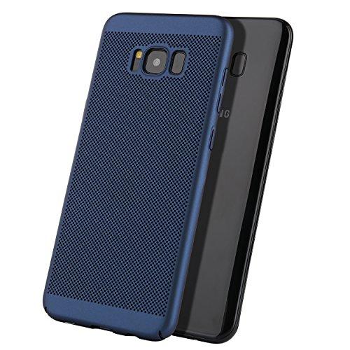 Samsung Galaxy S8 Hülle Liamoo® / Case / Schutzhülle aus Kunststoff gelochte Rückseite in blau