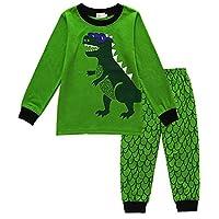 EULLA Boys Pyjamas Set Long Sleeve Cotton Pjs Outfit Cute Christmas Santa Claus Xmas Sleepwear 2-7 Years