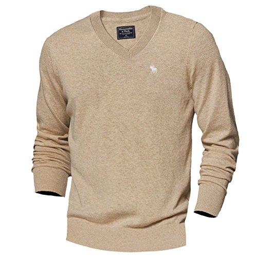 abercrombie-fitch-maglione-basic-maniche-corte-uomo-marrone-small