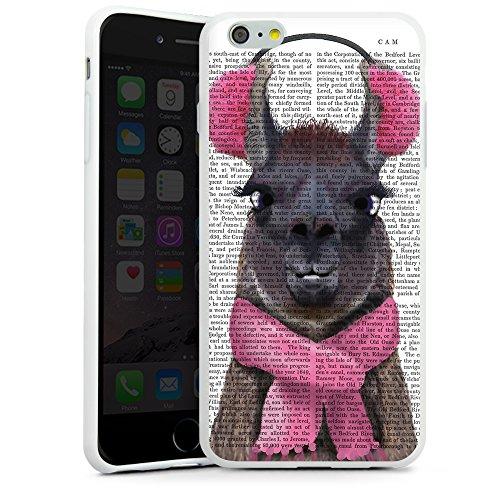 artboxONE Premium-Handyhülle iPhone 6 Plus / 6s Plus Lady Lama - Tiere - Smartphone Case mit Kunstdruck hochwertiges Handycover kreatives Design Cover von FabFunky Silikon Case weiß