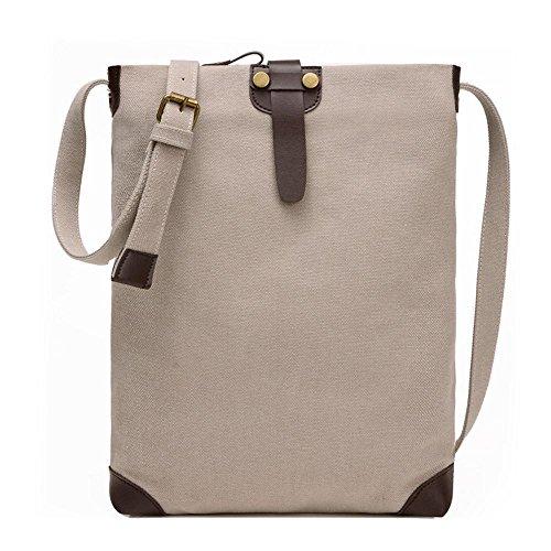Retro Tasche Schulter Einfache Freizeit Messenger Bag Personalisierte Paket meters white