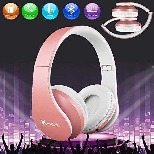 Bluetooth Kopfhörer,Kabellose Funk Faltbare Headsets,Wireless Over Ear kopfhörer mit Mikrofon FM,Leicht Studio Kopfhörer Handy Headphones für Kinder Mädchen iPhone Android