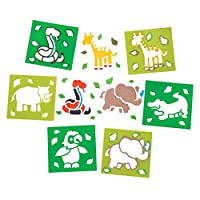 Jungle Animal Stencils (Pack of 6)
