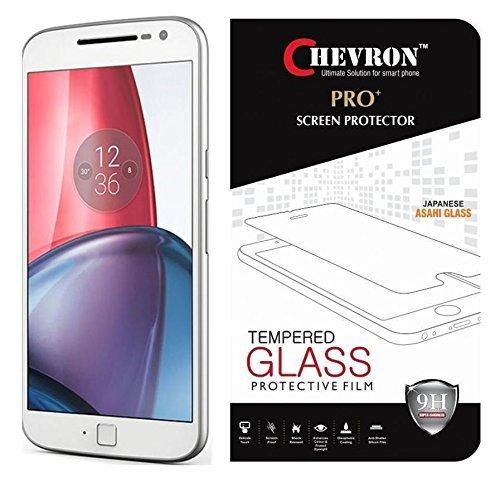 Chevron Premium Tempered Glass Screen Protector Skin Cover for Moto G Plus 4th Gen (G4)
