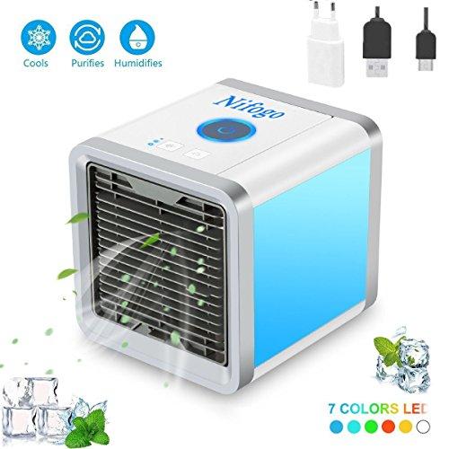 Produktbild Arctic Air Mini Mobile Klimageräte Cool Luftkühler Air Cooler mit USB Anschluß oder Netzstecker - Mit originalem Adapter (Klimageräte) (Weiß)