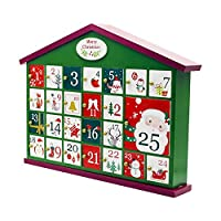 terferein Christmas Decorations,Christmas Wooden Countdown Calendar Box with exquisite solid wood details and modern design,fine workmanship,suit