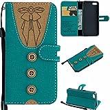 iPhone 5 / SE / 5S / 5G Leder Tasche Handyhülle Flip Wallet Schutzhülle für iPhone 5 / SE / 5S / 5G mit Ständer und Kartenfächer/Magnetverschluss (2)