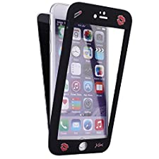 SainCat Custodia iPhone 6 Plus, Cover iPhone 6S Plus 360 Gradi Silicone Duro, Custodia in Ultra Slim Morbido Silicone Cover per iPhone 6/6S Plus-Labbra Rosse