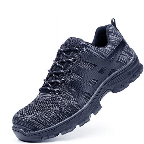 Djpcvb Sicherheitsschuhe Damen Arbeitsversicherungsschuhe Herren-Arbeitsschuhe leichte und geruchsneutrale atmungsaktive Anti-Smashing-Anti-Piercing-Schuhe Sicherheit vor Ort (Size : 46)