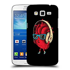 Snoogg Hearts Beats Designer Protective Back Case Cover For Samsung Galaxy Grand 2