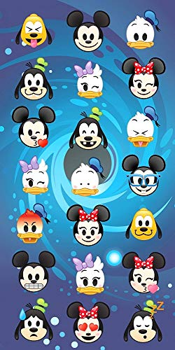(Disney Emoji Strandtuch Badetuch Handtuch, 70 x 140 cm, Art. 6694)