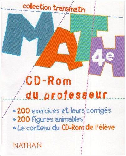 TRANSMATH 4E CD-ROM PROFESSEUR par JOEL MALAVAL