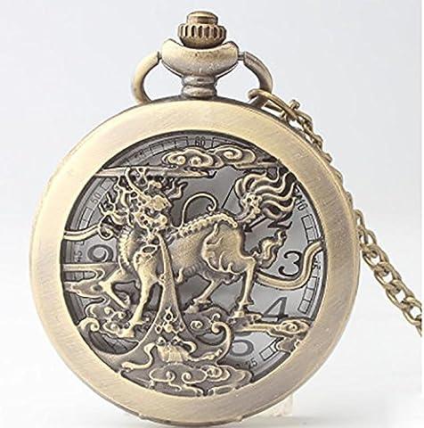 HAHA Tableaux de licorne pochoir muraux de bronze Vintage Pocket Watch Swiss