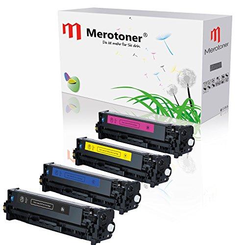 merotoner® kompatible 4 x Toner als ersatz für HP Color LaserJet CE320A-CE323A,...